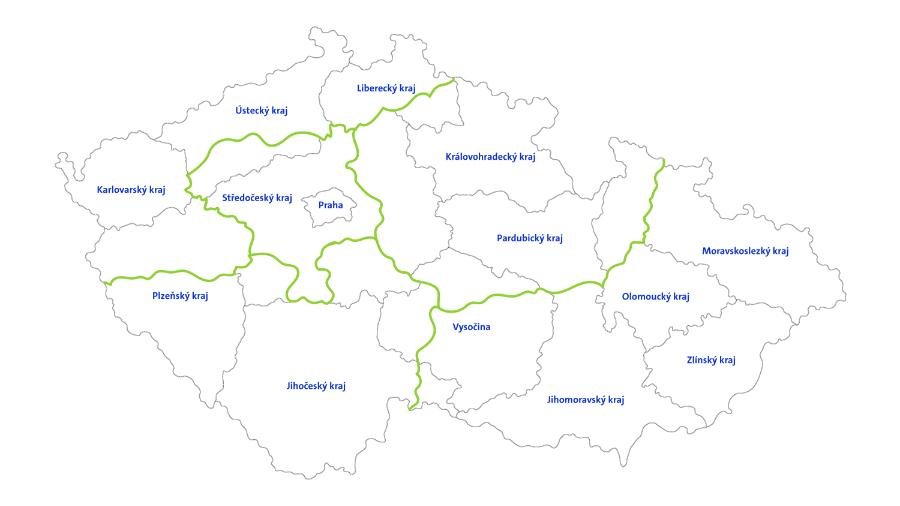 Mapa České Republiky - ista